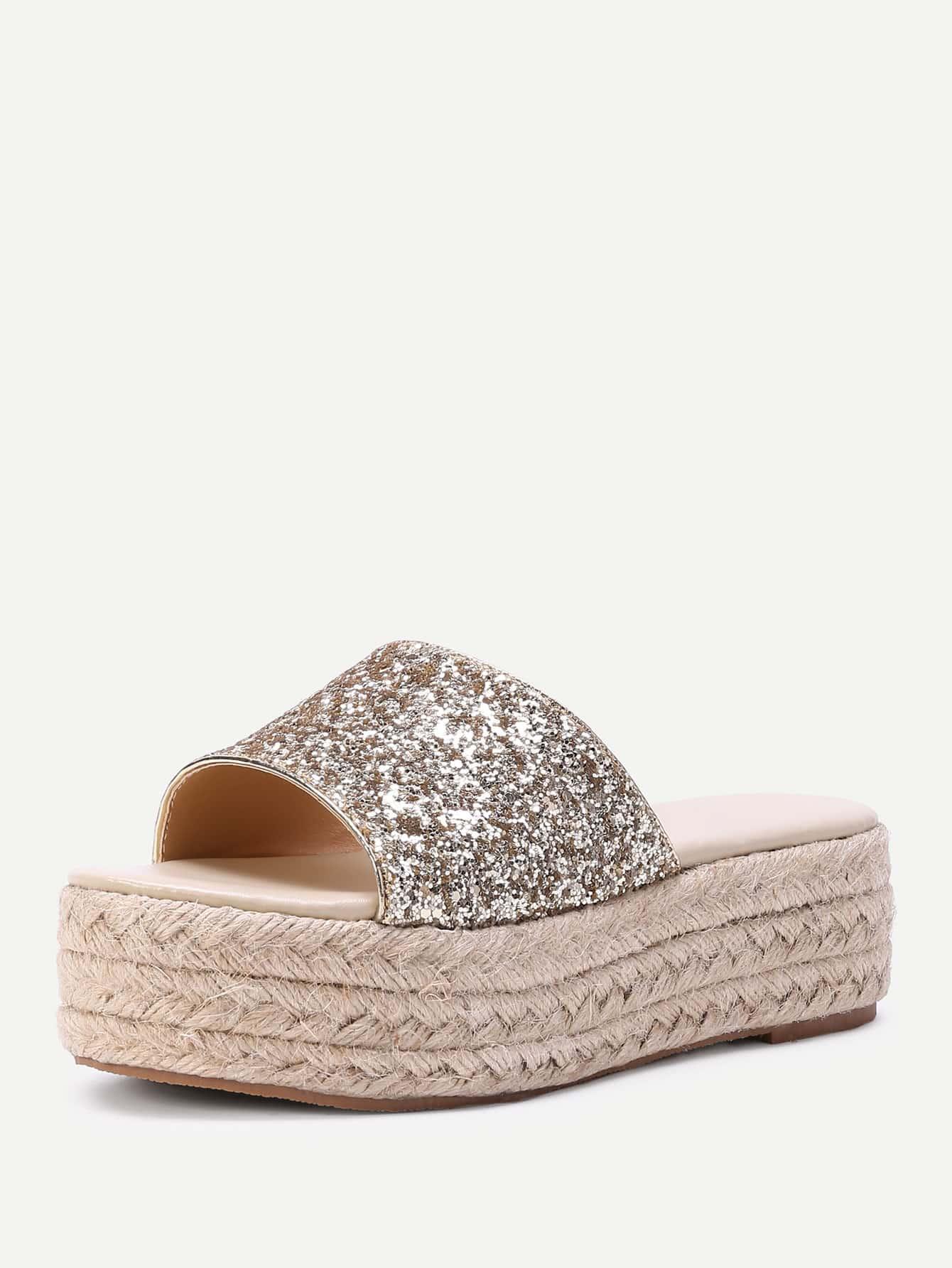 b87fba8c43a Cheap Glitter Design Woven Flatform Sandals for sale Australia