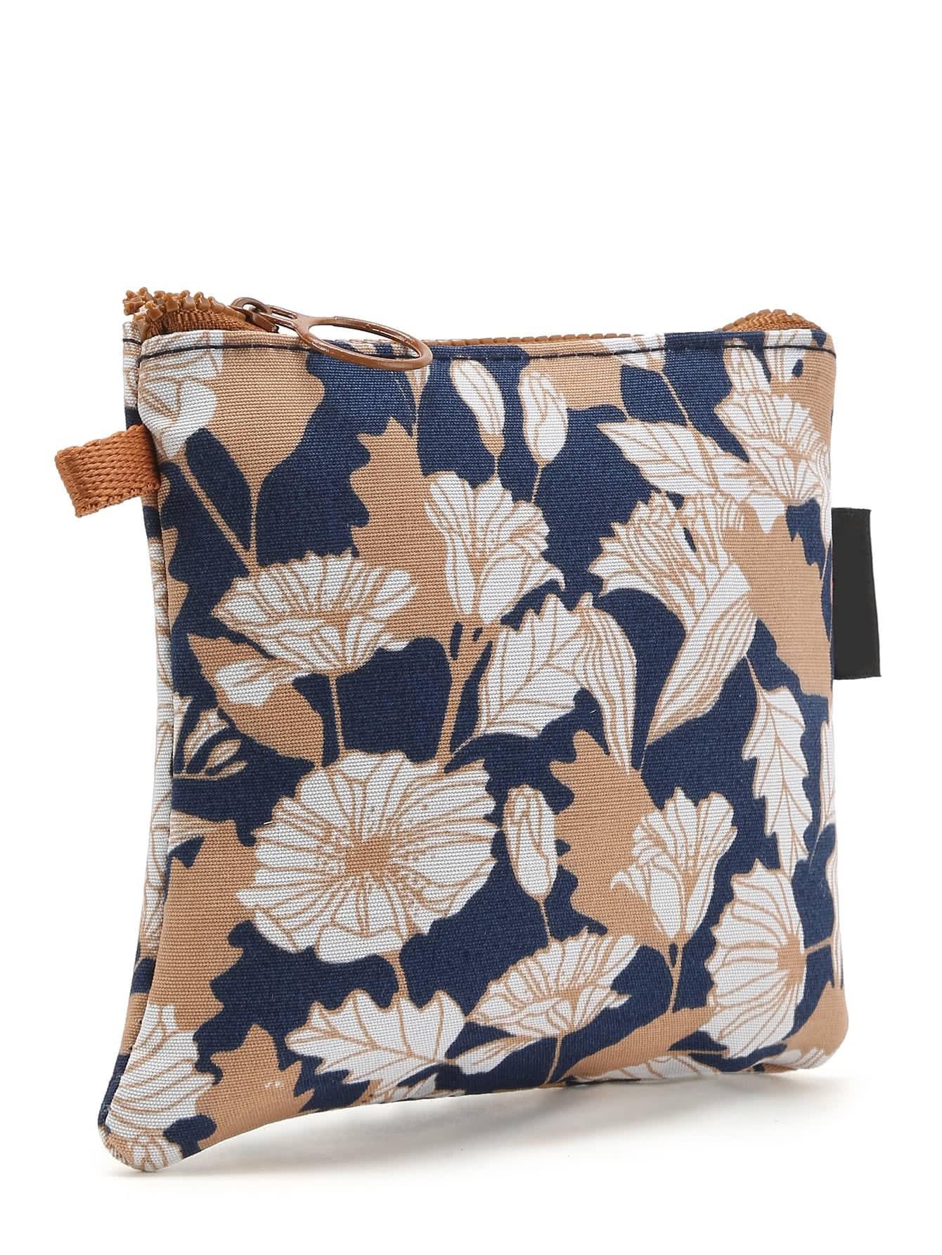 sac de rangement imprim des fleurs french shein sheinside. Black Bedroom Furniture Sets. Home Design Ideas