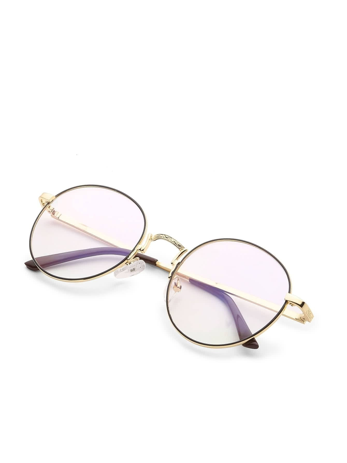 Round Lens Tinted Glasses