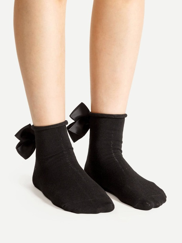 23176fa5b Bow Tie Back Ankle Socks