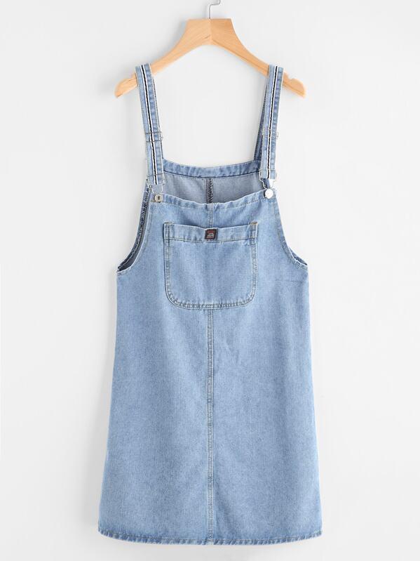 9202fac8324 Pinafore Denim Dress With Pockets | SHEIN