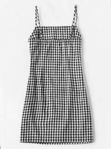 gingham print cami dress shein sheinside