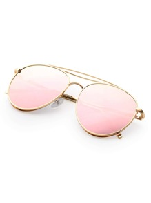 c93cf78c02b Triple Bridge Aviator Sunglasses -SheIn(Sheinside)