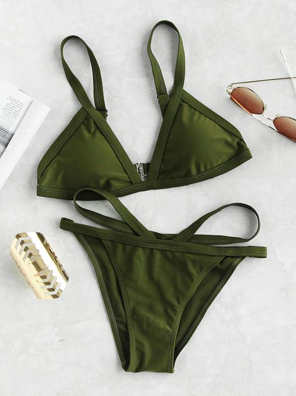 24816434fd Strappy Triangle Bikini Set -SheIn(Sheinside)