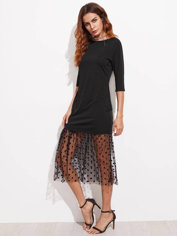 Sheer Polka Dot Dress