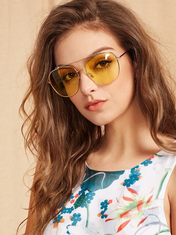 755637386f Top Bar Aviator Sunglasses