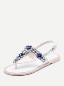 0032155ce Cheap Gemstone Decorated T Strap Sandals for sale Australia