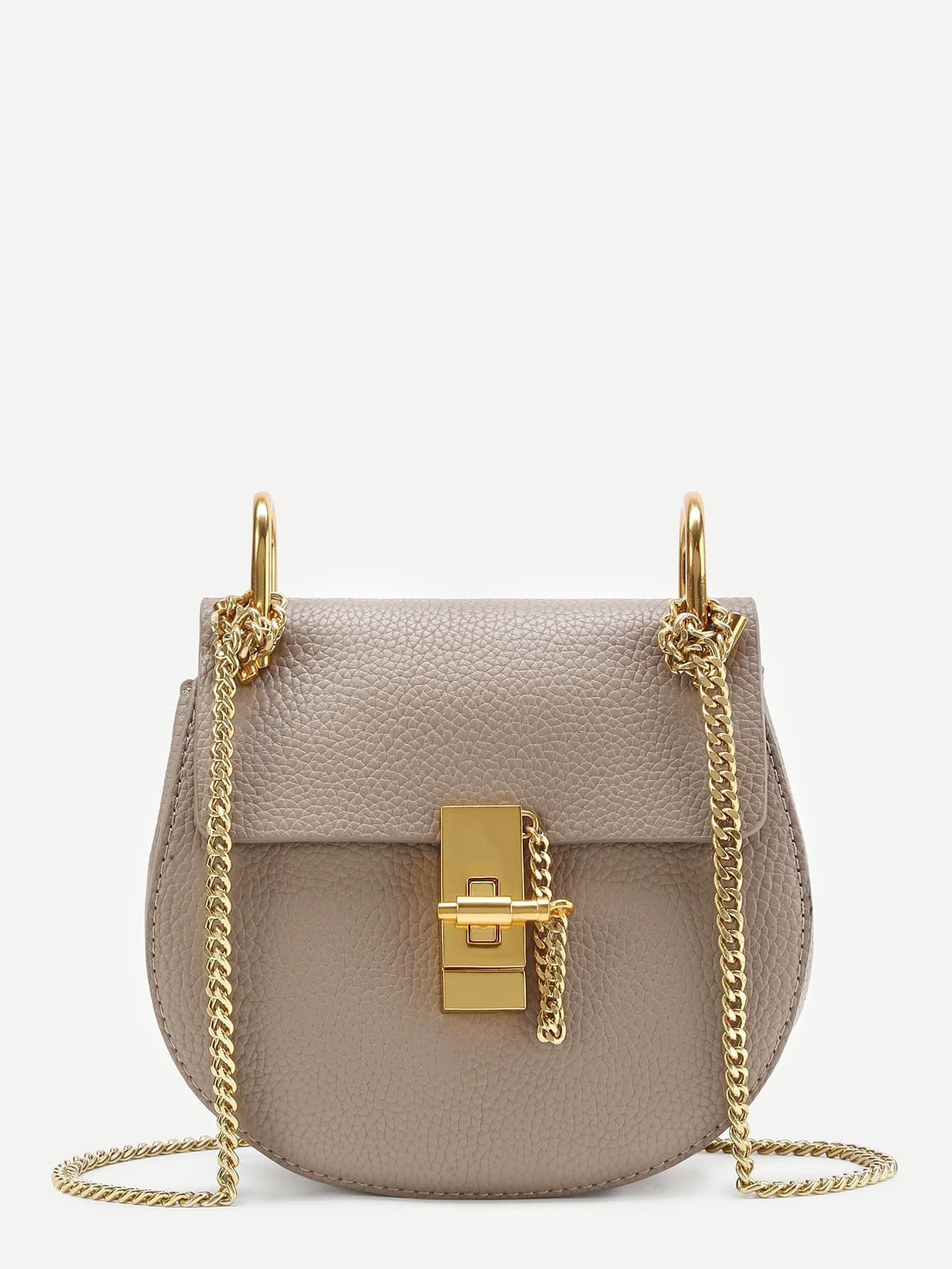 beige bag with gold details