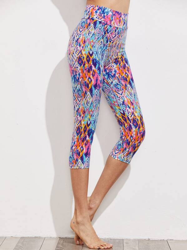 fdc73f144c4 Active Abstract Print Capri Leggings