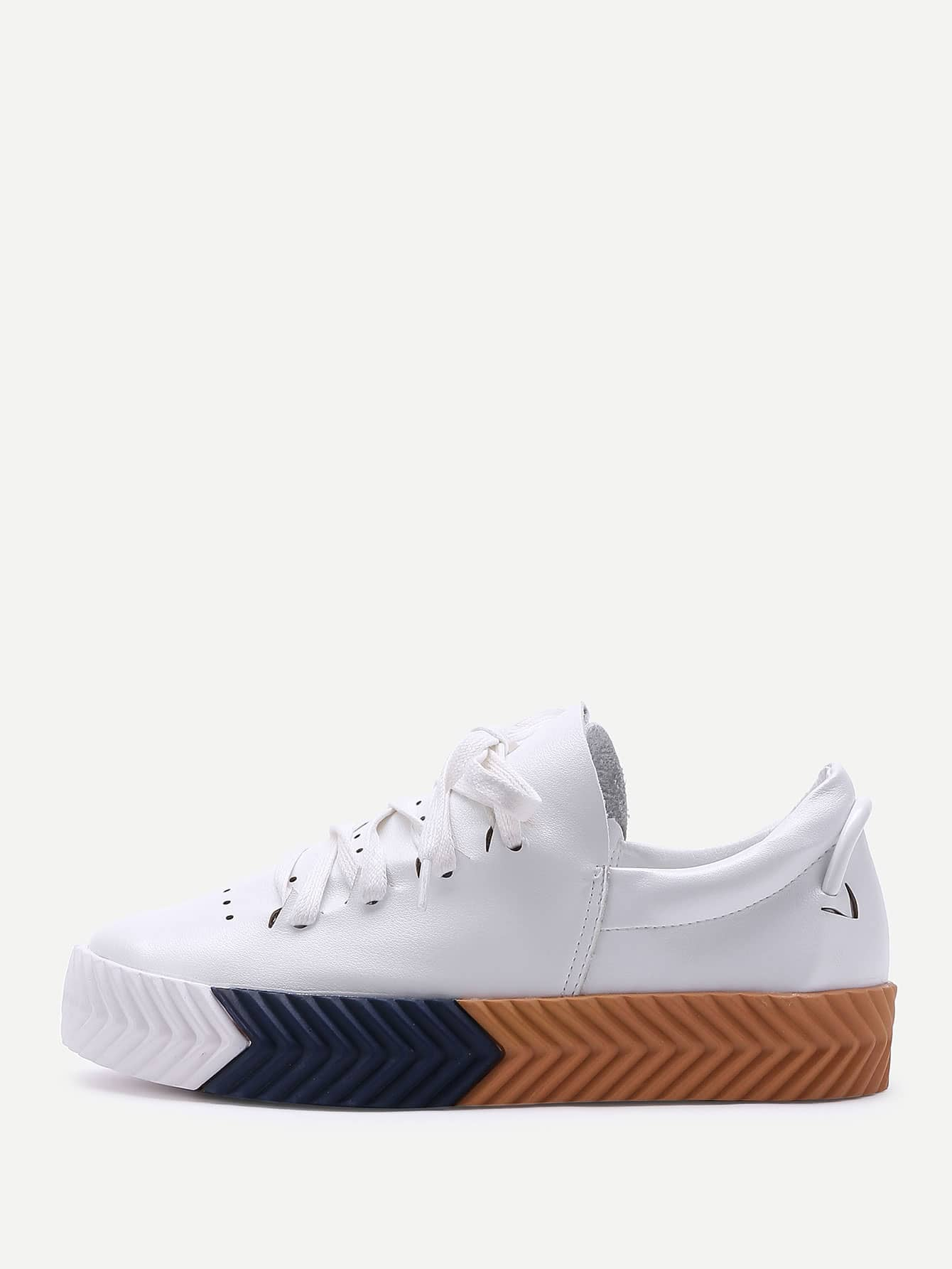 Lace Up Low Top PU Sneakers Y9y5stm S