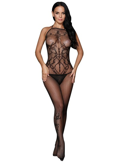 04237fb9e4 Halter Fishnet Bodystocking
