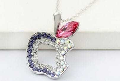 Multicolor Diamond Hollow Apple Red Swarovski Austria Crystal Pendant
