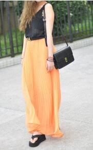 Beach Style Chiffon Pleated Skirt