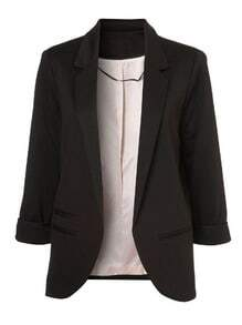 Boyfriend Ponte Rolled Sleeves Blazer