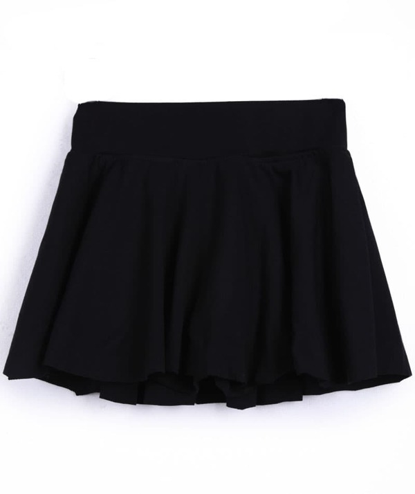 3eeb0d156a Cheap Black Pleated Skater Skirt Shorts for sale Australia | SHEIN