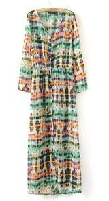Design And Colour Patterns Cardign Dress