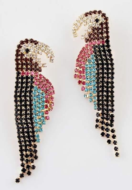 Multi Gemstone Gold Parrot Earrings Addthis Sharing Ons