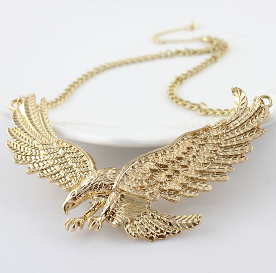 Gold Eagle Chain Necklace SheInSheinside