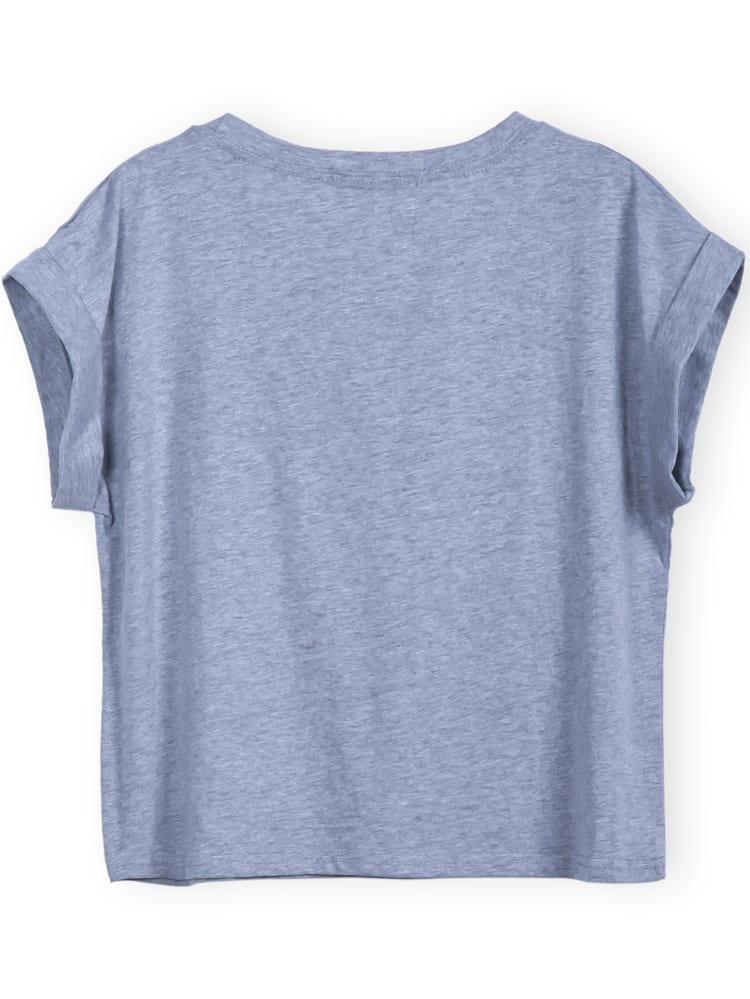 8f933f5a72 Grey Short Sleeve GEEK Print Crop T-Shirt | SHEIN