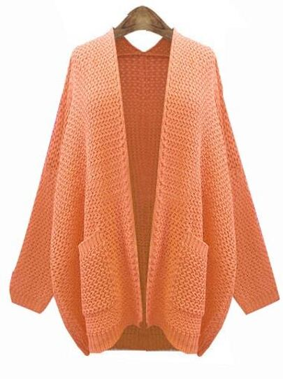 3adafb27ab Cheap Orange Long Sleeve Pockets Cardigan Knit Sweater for sale Australia