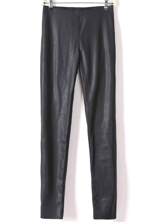 577afe39b292 Black Side Zipper PU Leather Skinny Pants | SHEIN