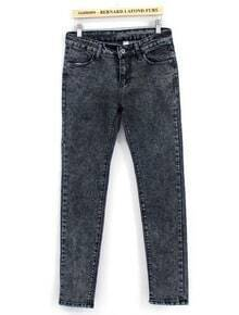 Grey Pockets Loose Denim Pant