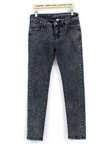 Grey Pockets Loose Denim Pant