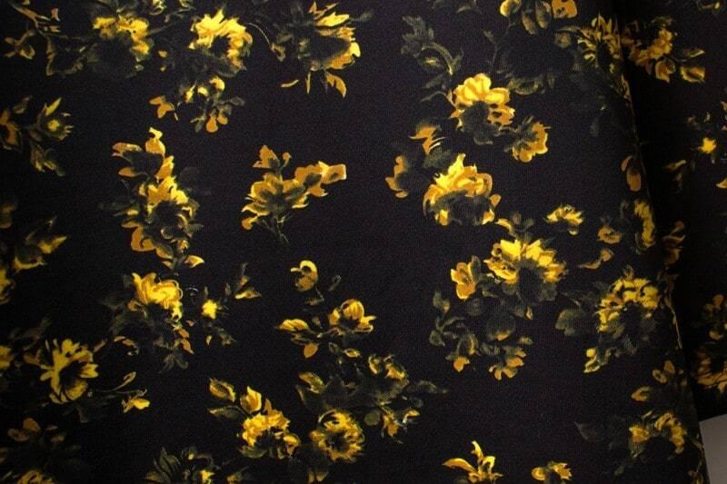 Black long sleeve yellow floral straight dress sheinsheinside mightylinksfo
