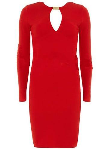 df57a7ad Cheap Red V Neck Long Sleeve Slim Bodycon Dress for sale Australia | SHEIN