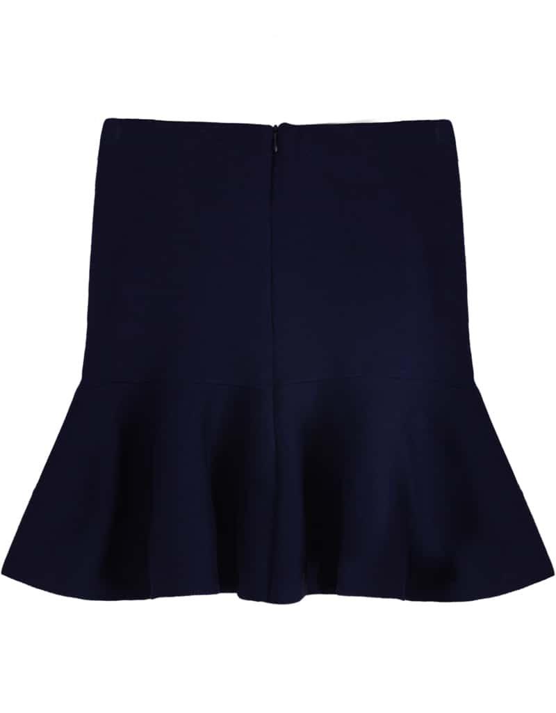 royal blue high waist bodycon ruffle skirt shein sheinside