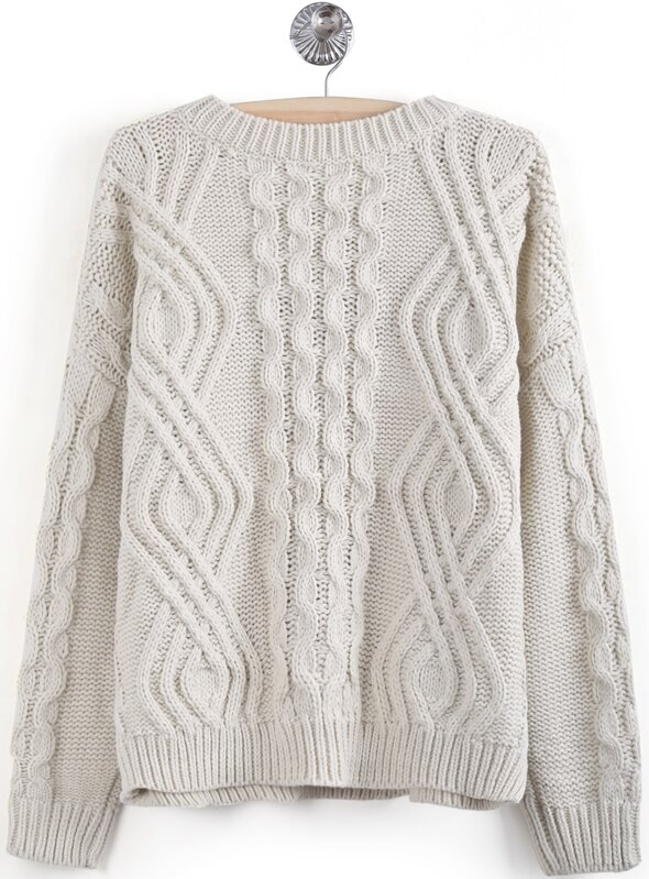 31d1a2ca2abc28 Apricot Long Sleeve Geo Pattern Cable Knit Sweater. AddThis Sharing Buttons