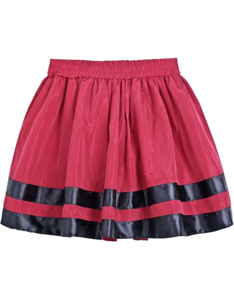 striped bow pleated skirt shein sheinside