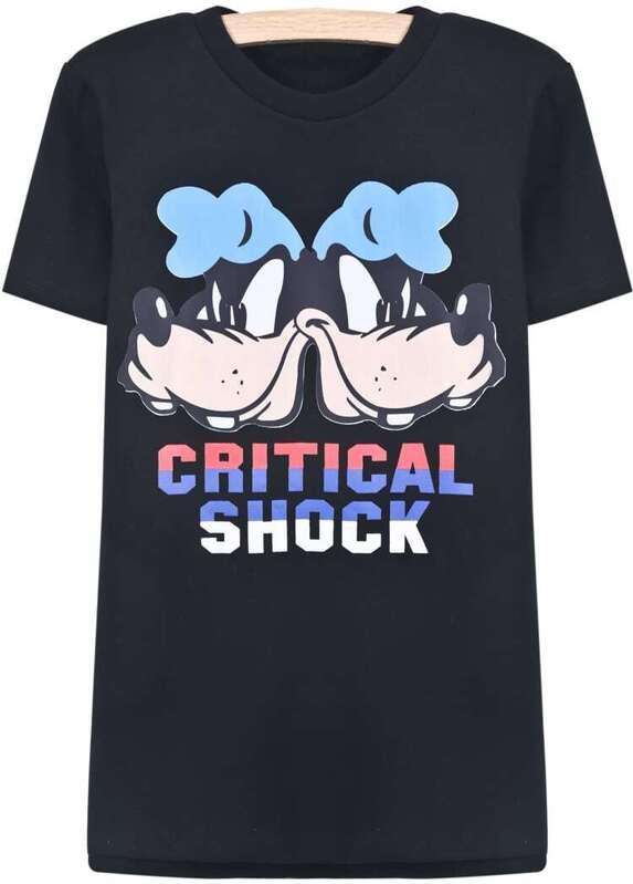 a0ca70296 Cheap Black Short Sleeve Disney Letters Dog Print T-Shirt for sale  Australia | SHEIN