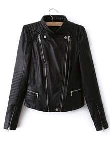 Faux Leather Moto Zip Jacket
