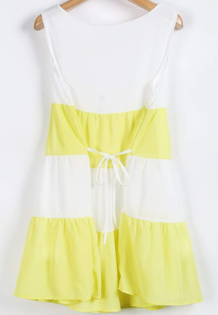 yellow and white sundress