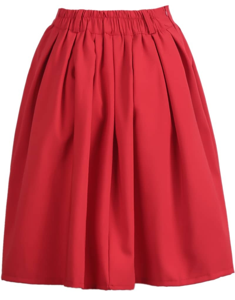 simple design pleated skirt shein sheinside