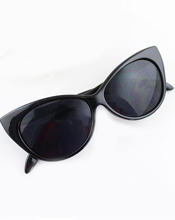 af83c7534c1 Black Cat Eye Sunglasses