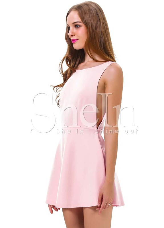 b77d8fdf43972 Pink Sleeveless Backless Romantic Loved Lolita Ruffle Skater Dress. AddThis  Sharing Buttons