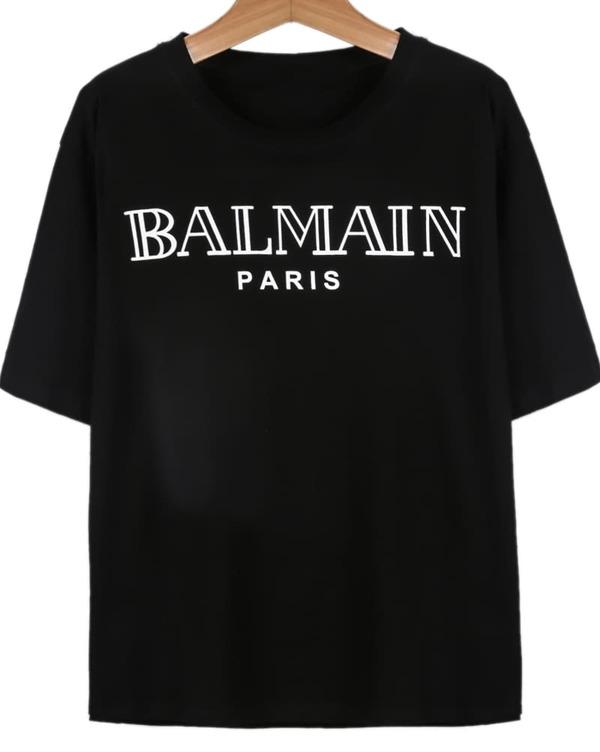 0980c924a4 Camiseta BALMAIN manga corta-negro