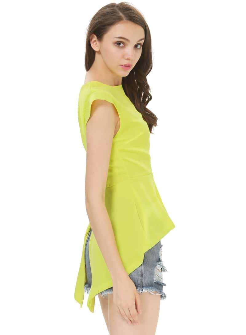 Theory Neon Yellow Blouse 57