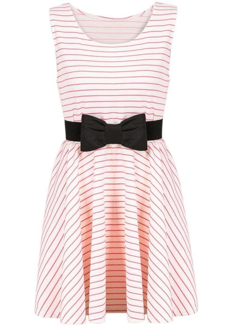 quality design 97426 3cca6 gestreiftes Kleid mit Schleife, rot-weiß