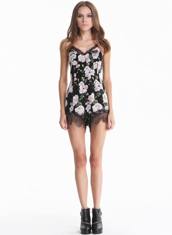 a645e955761a Black Criss Cross Floral Lace Slim Jumpsuit