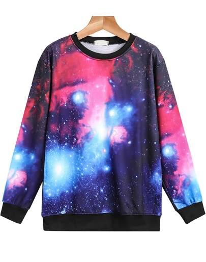 comprar online 708e5 f1fec Sudadera galaxia manga larga-violeta