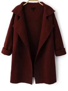 Open Front Knit Coat