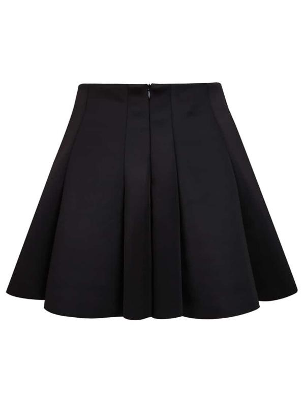 58567fd514 Black High Waist Pleated Skirt | SHEIN