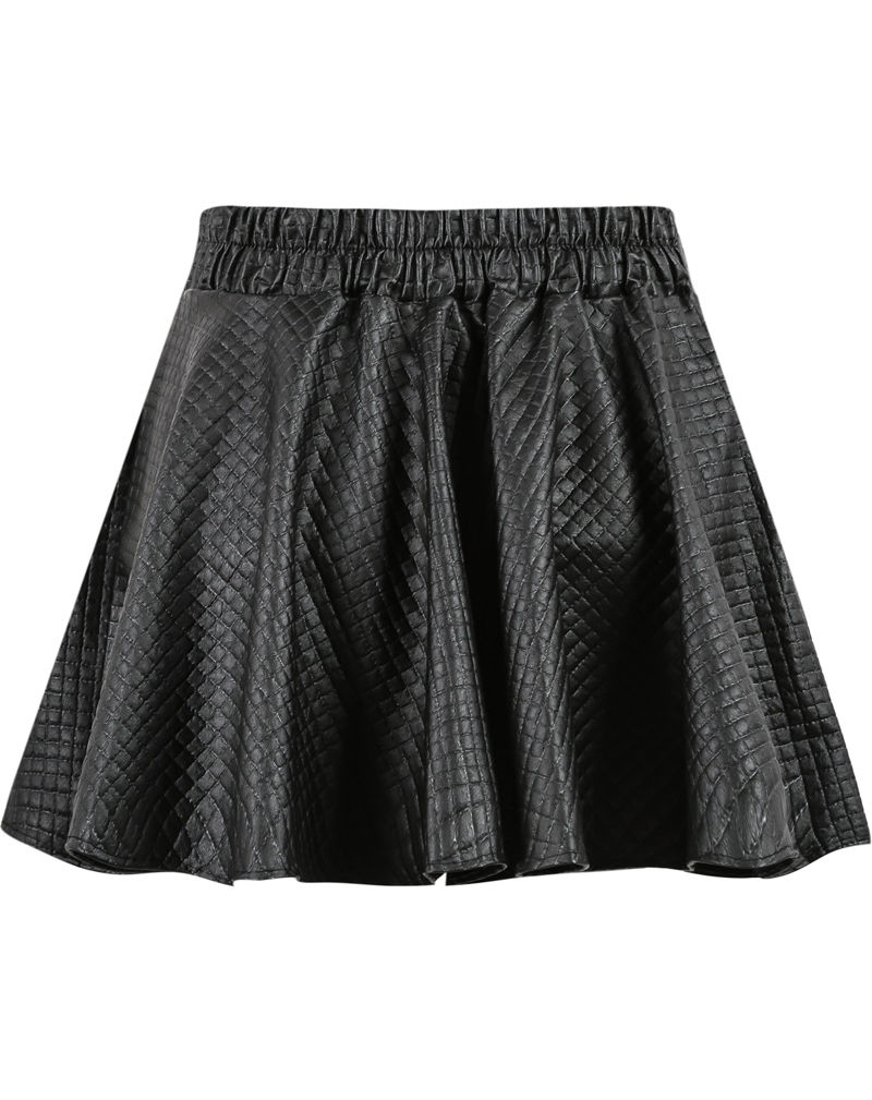 black plaid pleated mini skirt shein sheinside