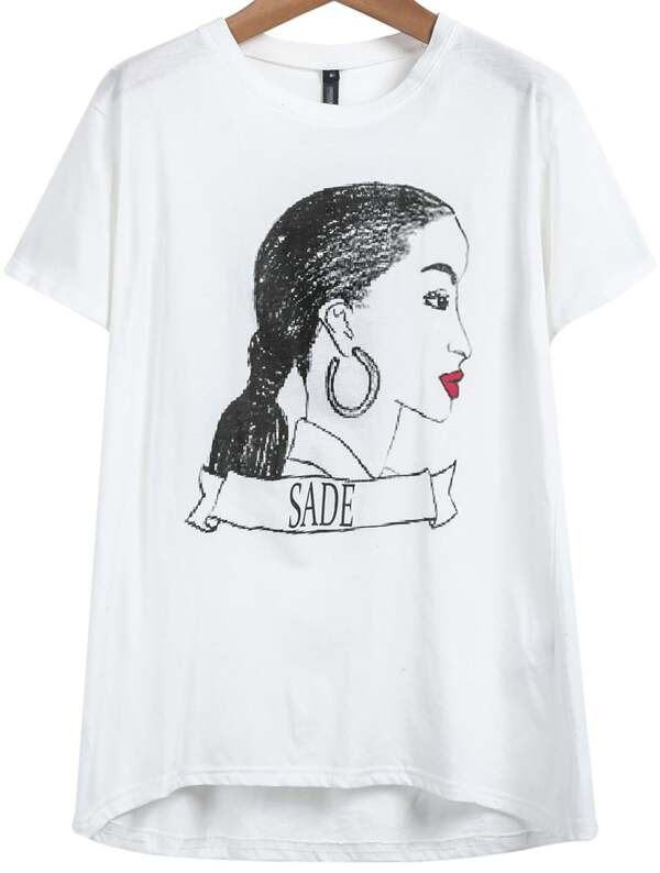 51ea380e77b Cheap White Short Sleeve SADE Head Print T-shirt for sale Australia ...
