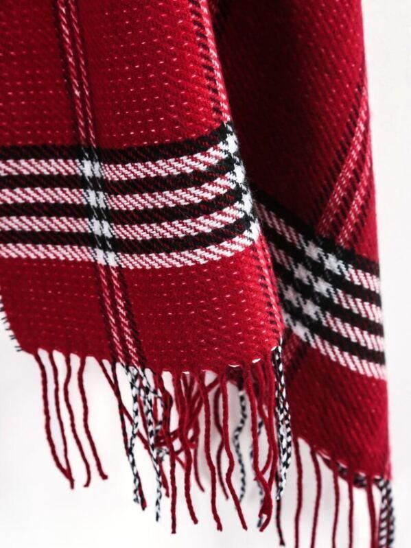 Classique · Acrylique · Plaid. écharpe ornée de franges à plaid -rouge.  AddThis Sharing Buttons 199bd85898a