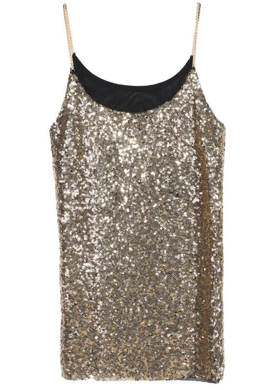 baac1f9e6d07a Gold Spaghetti Strap Sequined Vest. AddThis Sharing Buttons