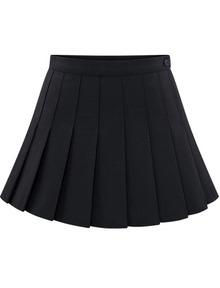 Resultado de imagen para Pleated Skirt black